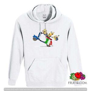 FELPA-CON-CAPPUCCIO-E-TASCA-UNISEX-FRUIT-MINIONS-VESPA-ITALY-MINIONS-ITALIA-F043