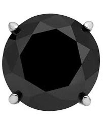 1//2 CTW 14K W or Panier Set simple Stud Hommes Boucles D/'oreille Diamant Noir
