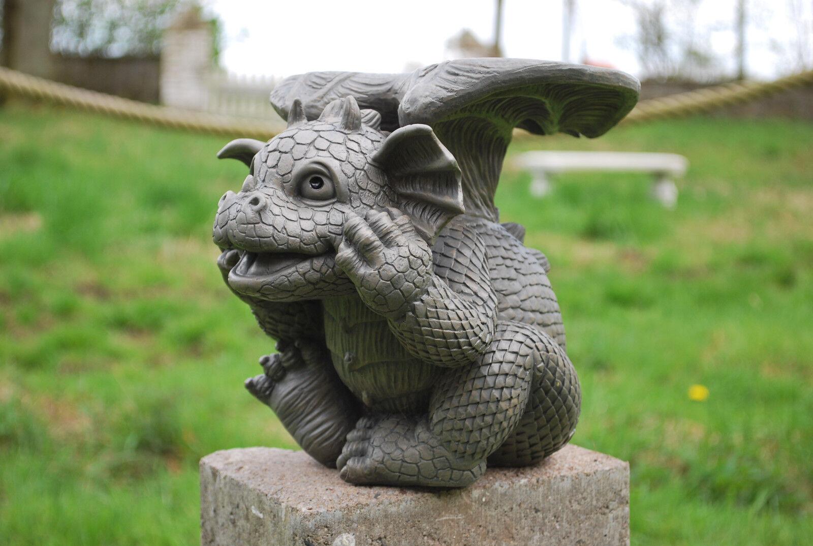 Dragón como soporte de flores de jardín personaje decoración stand personaje animal personaje personaje