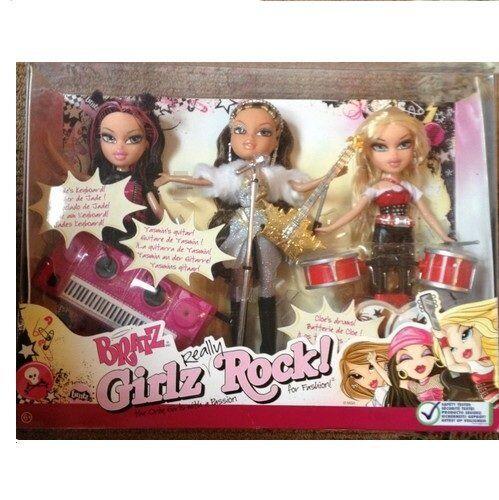Bratz Girlz Really Rock Cloe Jade & Yasmin 3 Doll Gift Set Rare