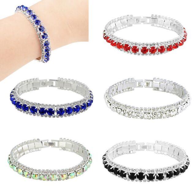 Elegant Fashion Crystal Rhinestone Bracelet Bangle Wedding Bridal Wristband