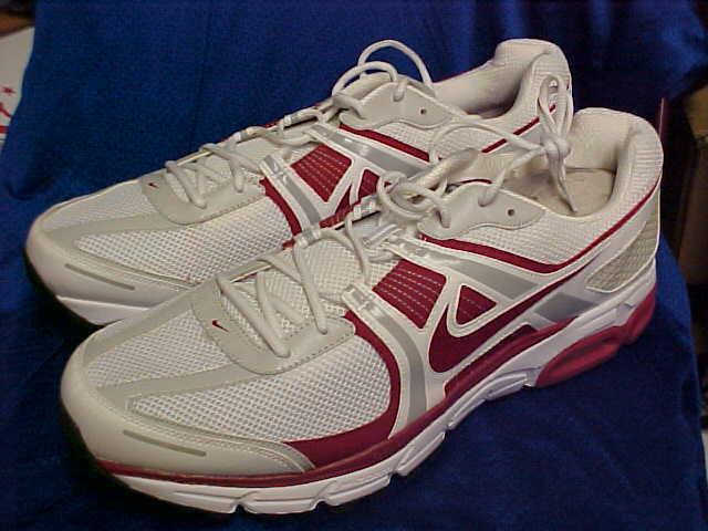 Alabama crimson tide nike air max moto + 8 8 8 formazione scarpe bianco / rosso numero 20 4e2145