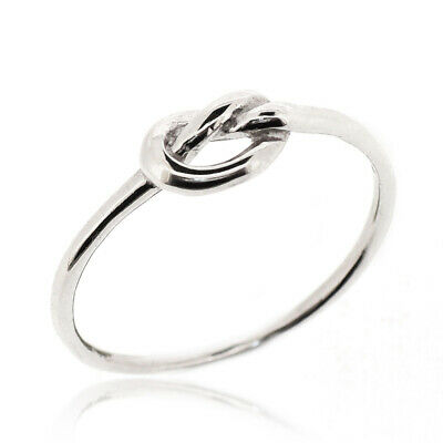 925 Sterling Silver Classic Infinity Knot Ring Thin Rounded Band Ring For Women Ebay