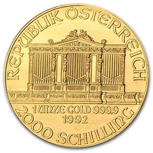 1992-Austria-1-oz-Gold-Philharmonic-BU-SKU-74664