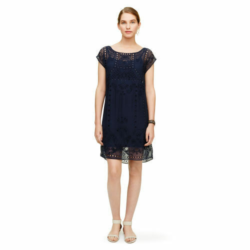NWT  229 CLUB MONACO EMBROIDERED EYELET LUCILLE DRESS SIZE 00