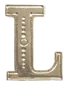 Letter F Orange Lodge Order Silver Nickel Plated Character for Collarette Sash