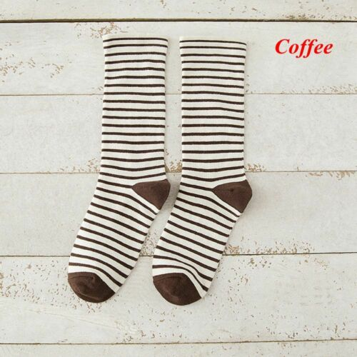 Fashion Winter Warm Cute Ankle Striped Socks Elastic Hosiery Cotton Knit