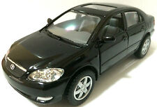 "Kinsmart 1:36 scale Toyota Corolla diecast model car PULL BACK ACTION 5"" BLACK"