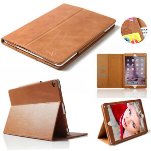 Boriyuan-Real-Genuine-Leather-Smart-Case-Folio-Auto-Sleep-Cover-For-iPad-2-3-4