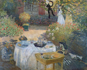 Luncheon-Claude-Monet-Painting-Print-Canvas-Giclee-Reproduction-Wall-Art-Small