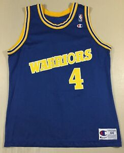 purchase cheap 562d9 d8e35 Details about Vintage Golden State Warriors Chris Webber #4 Basketball-NBA  Champion Jersey 44
