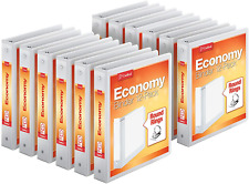 Economy 3 Ring Binders Round Rings Holds 350 Sheets Clearvue Presentation View