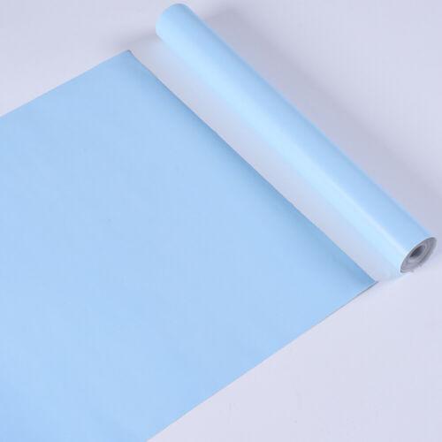 45 cm x 10 m Rouleau Plain coloures Vinyle Meubles Papier Peint Autocollant Chambre Décoration UK