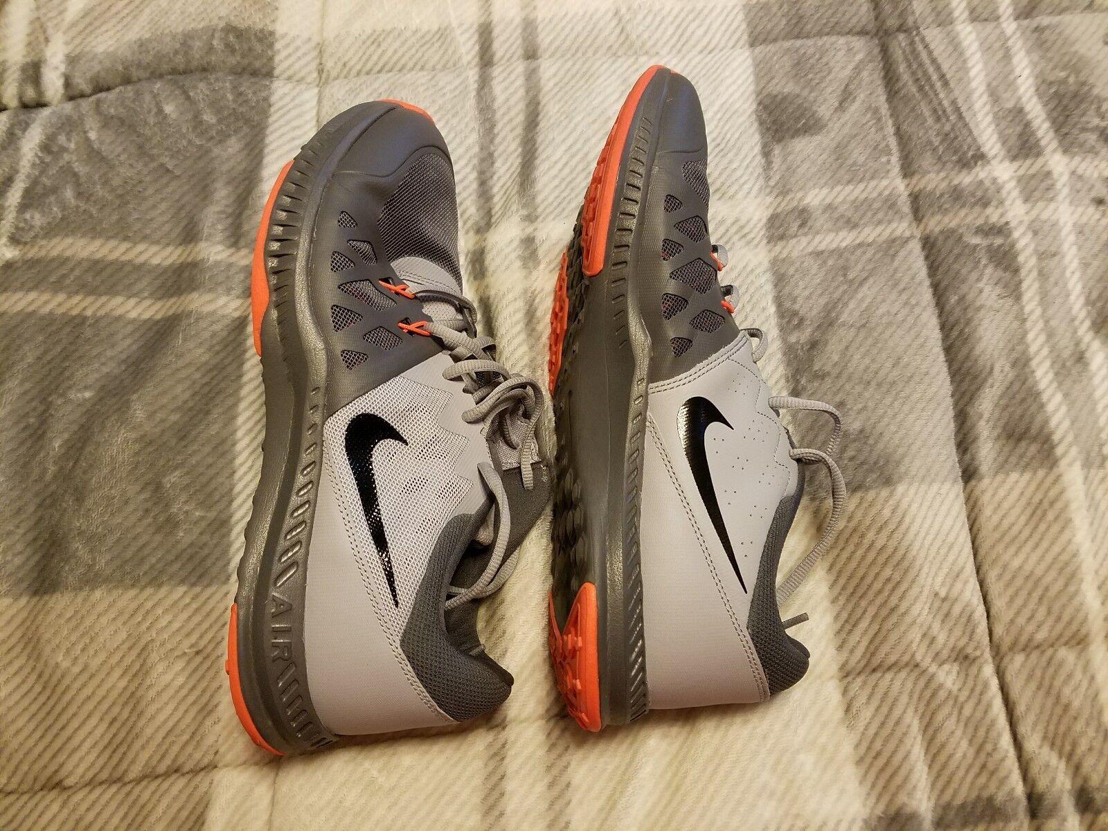 Mens nike air max sneakers size 11 Gray/Dark Gary and Orange