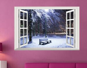 Weihnachten-Wandtattoo-Schnee-Winter-Fensterbild-Wandsticker-Sticker-Aufkleber