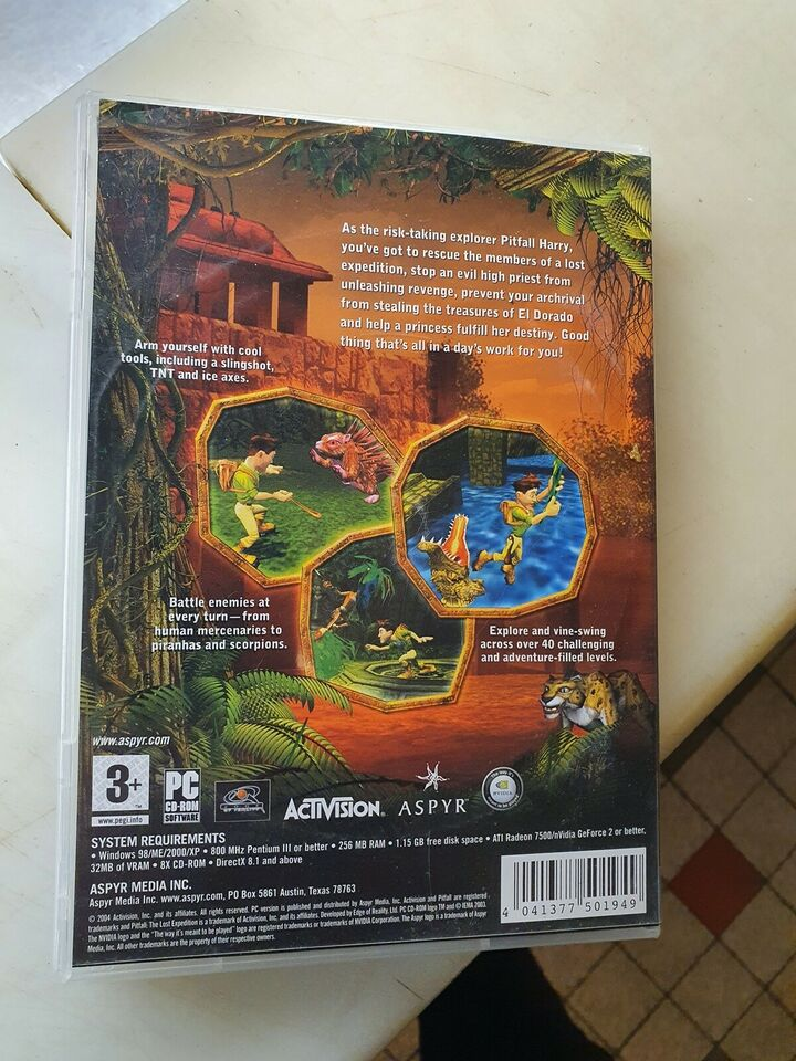 Pitfall The Lost Expedition, til pc, action