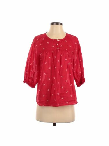 Madewell Women Red Long Sleeve Blouse XS