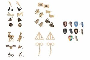 Image Is Loading Harry Potter Earrings Sets Gryffindor Slytherin Hufflepuff Ravenclaw