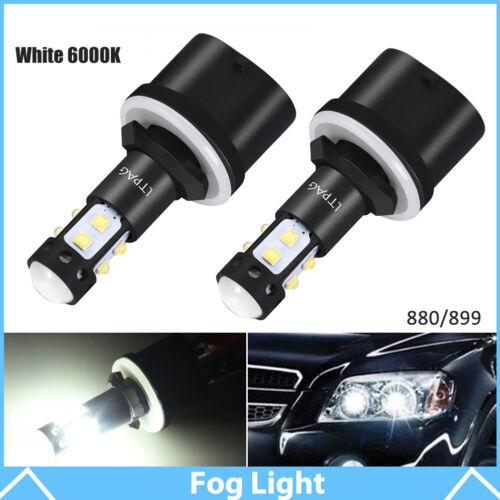 2× 50W 880 899 6000K LED Fog Light Bulbs Car Driving Lamp DRL HID White
