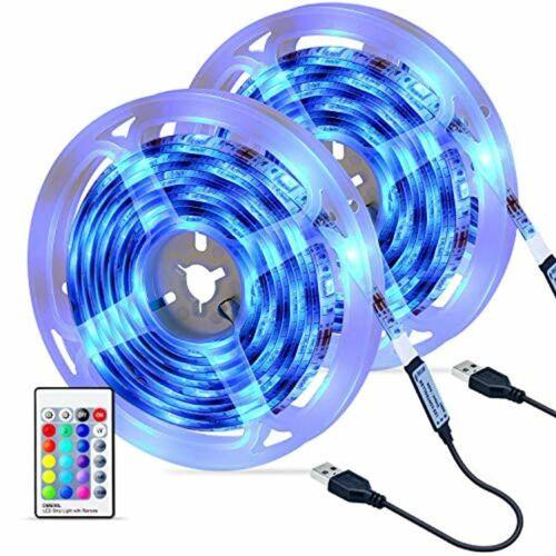 Ruban LED [2 x 3M], LED 5050 RGB Etanche avec Télécommande IR,   | eBay