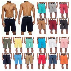 Fashion-Casual-Shorts-Men-039-s-Shorts-Bahamas-Belted-Hipster-Chinos-Jogger-Shorts