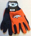 NWT NFL Denver Broncos No Slip Gripper Utility Work Gloves W/ 3D Team Logo NEW!