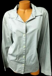 Liz-claiborne-gray-striped-long-sleeve-women-039-s-plus-size-button-down-top-24W