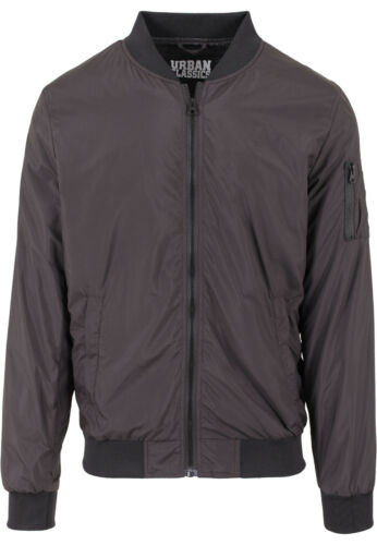 URBAN CLASSICS UOMO LIGHT estate Bomber giubbotto Jacket Bomber Giacca Giacca Da Aviatore