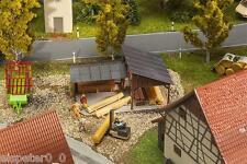 Faller 180498 Spur H0, Holzlagerschuppen, Miniaturwelten Bausatz 1:87