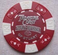 Harley Davidson Dealer Poker Chip Stuart  Florida Treasure Coast Harley Davidson