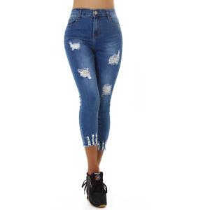 Jeans Denim High Waist Ladies Skinny 7/8 Jeans Trousers Used