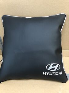 Faux-Leather-Embroidered-Hyundai-17-Cushion-Fibre-Filled-Inner-Brand-New
