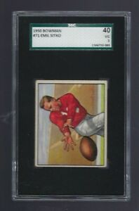 1950-BOWMAN-SMALL-71-EMIL-SITKO-FOOTBALL-CARD-SGC-40-SAN-FRANCISCO-49ERS