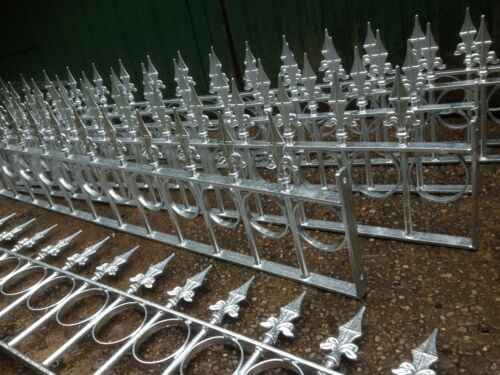"""Metal galvanized only garden low wall fencing railing quote only 12/"""" high"""