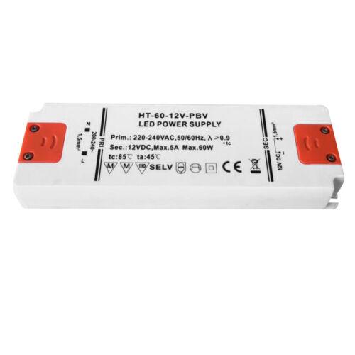 LED Transformator LED Trafo 12V DC SMD Treiber Driver 12W 60W G4 MR16 .Lampen