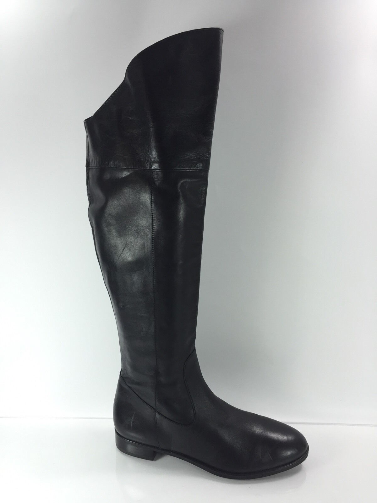 Via Spiga Womens Black Over The Knee Leather Boots 9.5 M