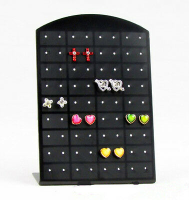 Black 72PCS Stand Organizer Jewelry Holder Showcase Tool Rack Earrings Display