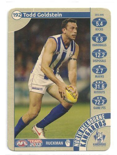 2013 Teamcoach Gold 192 Todd GOLDSTEIN North Melbourne