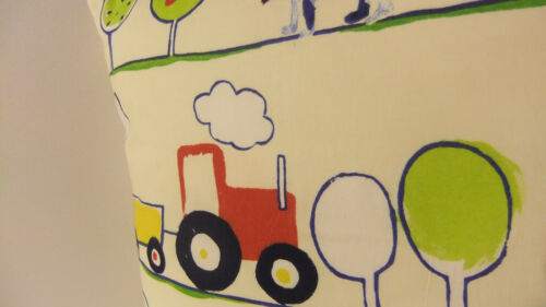 NEW SINGLE CUSHION COVERS NURSERY CHILDRENS PLAY ROOM SAME FABRIC FRONT AND BACK