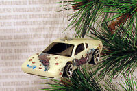 Tornado Ferrari 308 White Sports Car Christmas Ornament Xmas