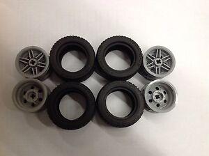 44309 Black x 2 Lego Tyre 43.2 x 22 ZR Part No