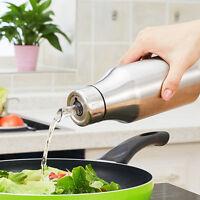 Kitchen Oilcan Leak-proof Olive Oil Bottle Vinegar Soysauce Pot Stainless Steel