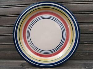 Multi-Stripe-by-Pier-1-Dinner-Plate-Multicolor-Bands-L119