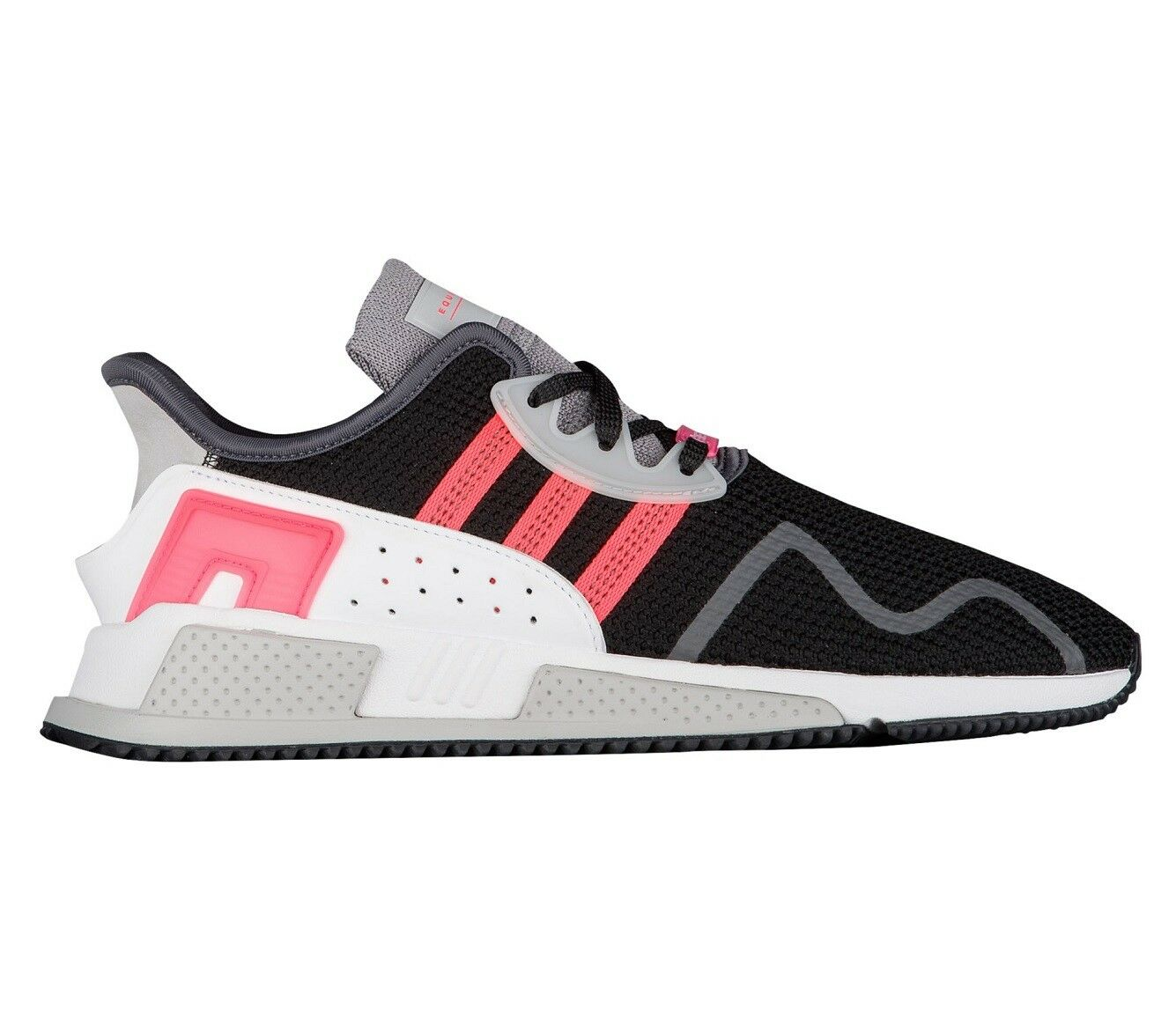 Adidas EQT Cushion ADV Mens AH2231 Black White Turbo Running Shoes Comfortable
