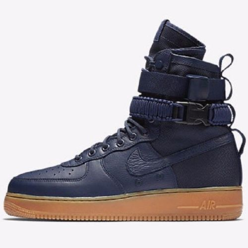 NIKE SF AIR FORCE 1 MIDNIGHT NAVY/GUM MEN SIZE 8.5 NEW 864024 400