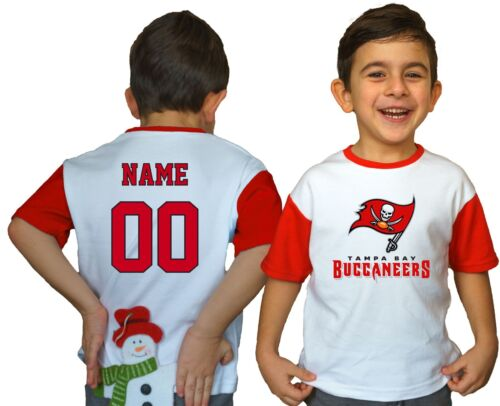 Tampa Bay Buccaneers Kids Tee Shirt NFL Personalized Logo Youth Unisex Jersey