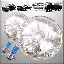 "Classic Austin Mini 7"" Crystal Xenon Sealed Beam Headlights Halogen Conversion"
