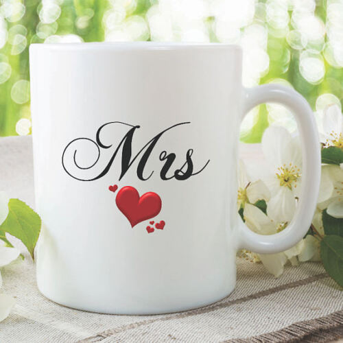 Coffee Mug With Design Printed Ceramic 11oz Mrs Design White Cup Gift Novelty