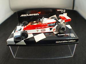 Minichamps-F1-Mc-Laren-Ford-M26-Hunt-Ed-43-n-95-1978-1-43-boxed-en-boite-MIB
