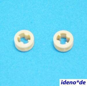 LEGO-2-pz-Stopper-con-attraversare-FORO-CONNETTORE-Beige-32123-MARRONE-CHIARO